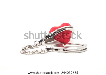 Close Isolated Red Heart Shape Being Stock Photo 244037665 ...