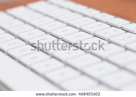 Close up of keyboard