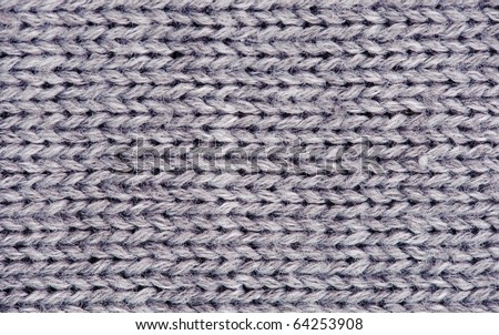 Close-up of knitted wool texture. Gray - stock photo