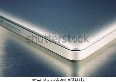 Close-up of laptop - stock photo