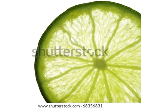 close up of lemon section - stock photo