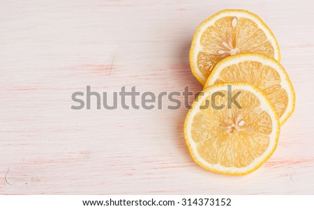 close up of lemon slice - stock photo