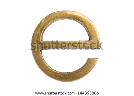 "Close-up of letter ""e"" - stock photo"