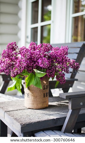 Close up of lilac arrangement - stock photo