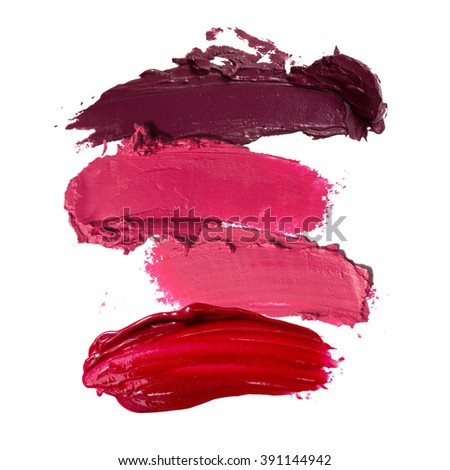 close up of lipstick stroke background - stock photo
