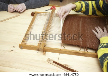 close up of loom tool on a workshop - stock photo