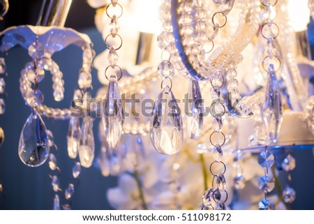 Close-up of Luxury chrystal chandelier