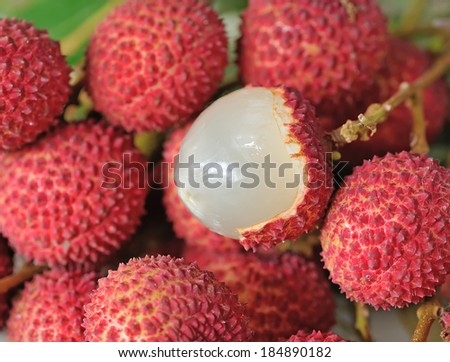 Close-up of lychee fruits - stock photo
