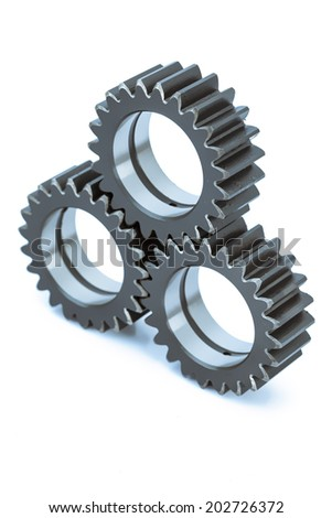 Close-up of Machine Gears - stock photo