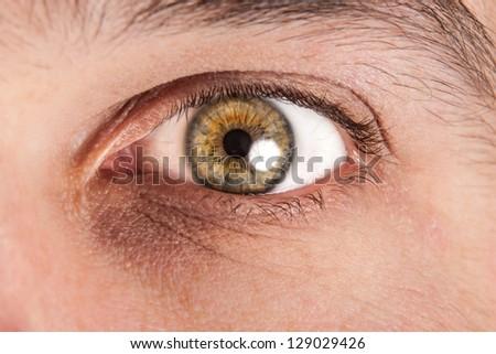 Close up of male eye - stock photo