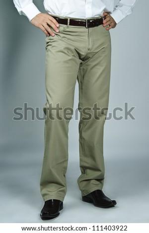 Close up of man's pants. - stock photo