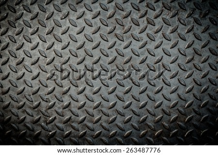 Close up of metal plate to prevent slipping - stock photo