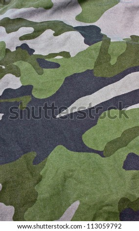 Close up of military uniform fabric. - stock photo