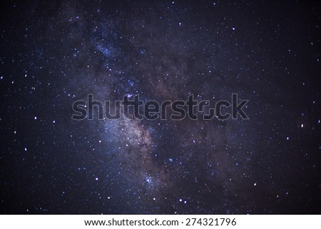 Close-up of Milky Way, Taken via star tracker, low noise high quality. - stock photo