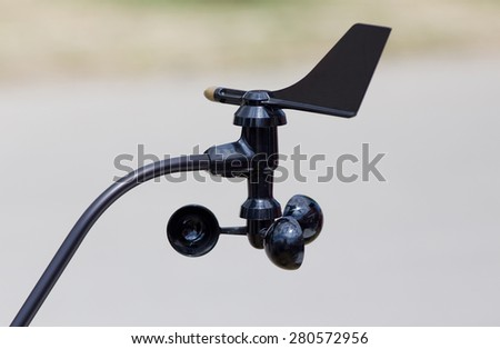 Close up of mini weather station used in agricultural purposes - stock photo