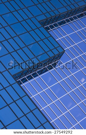 close up of modern high-rise building / glass  reflection / abstract background