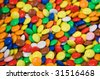 Close up of multi color jelly beans background - stock photo