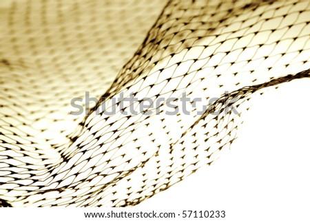 Close-up of netting on plain background - stock photo