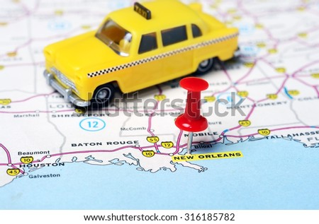 New Orleans Map Stock Images RoyaltyFree Images Vectors - New orleans usa map