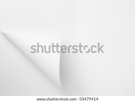 close up of note paper with curl - stock photo