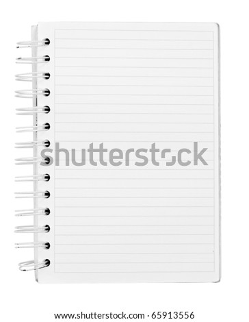 Close up of note paper with spiral - stock photo
