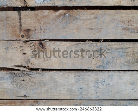 close up of old aged weathered cracked wood profile surface texture - stock photo