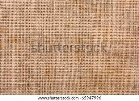 Close up of old canvas texture background - stock photo