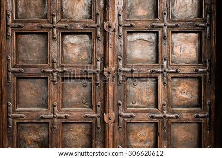Close-up of old doors