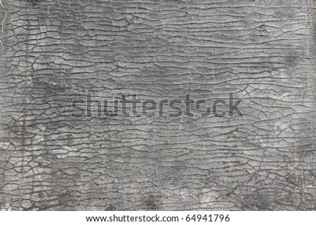 Close up of old leather texture for background