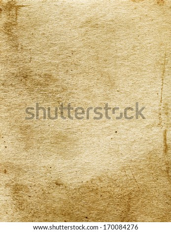 Close up of old rough paper cardboard