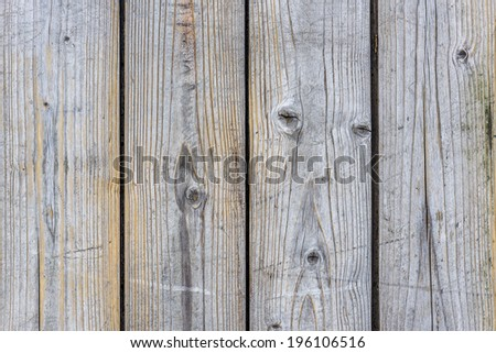 close up of old scratched wood structure - stock photo
