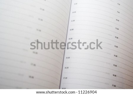 close-up of organizer - stock photo