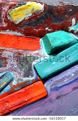 Close up of pastel - stock photo