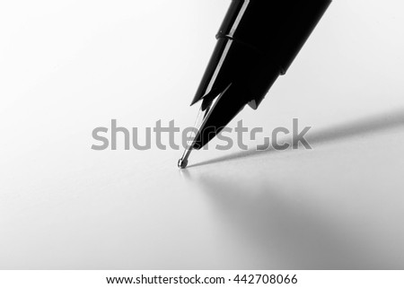 Close-up of  pen  - stock photo