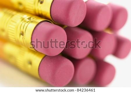 Close Up of Pencils - stock photo