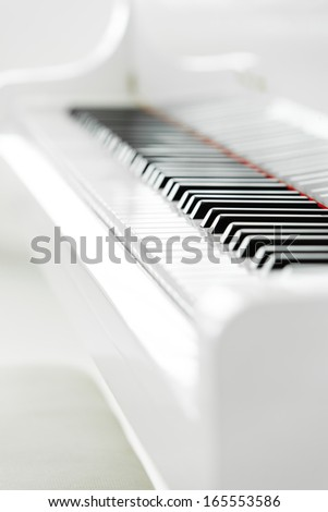 Close up of piano keyboard. Concept of music and arts - stock photo