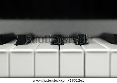 Close-up of piano keys - stock photo