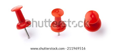 close-up of pins on white background - stock photo