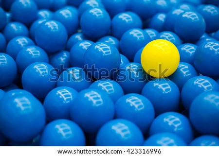 close up of plastic colorful ball at the playground - stock photo