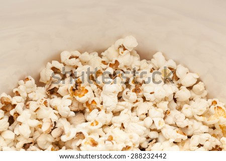 Close up of pop corns in a bowl. - stock photo