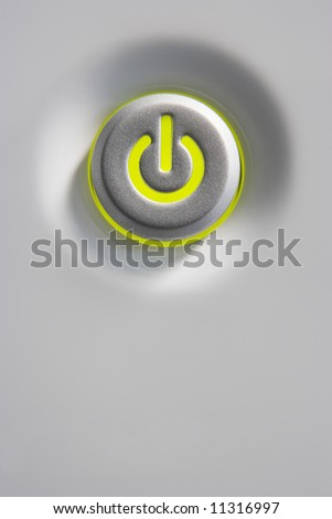 Close-Up Of Power Button - stock photo