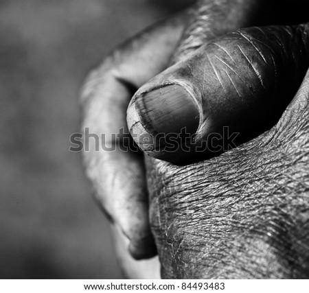 Close up of Praying Hands - stock photo