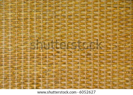 Close-up of rattan weaving - background, texture