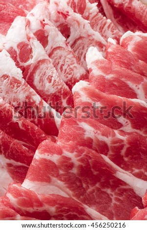 Close-up of raw meat - stock photo