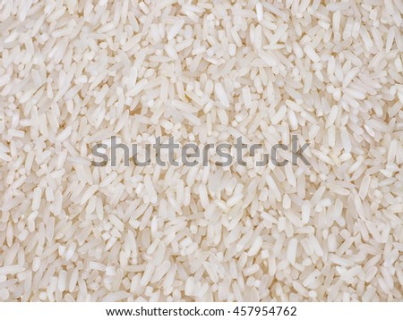 close up of raw white rice background