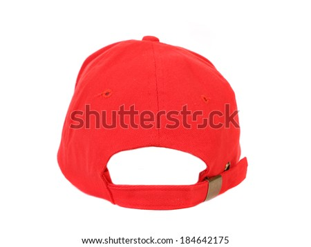 Close up of red cap. Isolated on a white background.