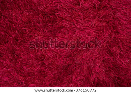Close up of Red carpet texture - stock photo