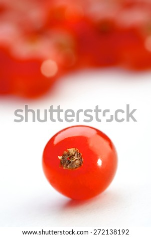 Close - up of red currant - stock photo