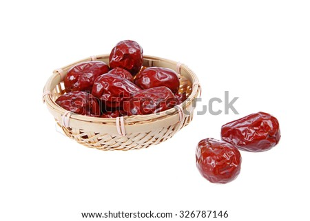 Close-up of red jujube - stock photo