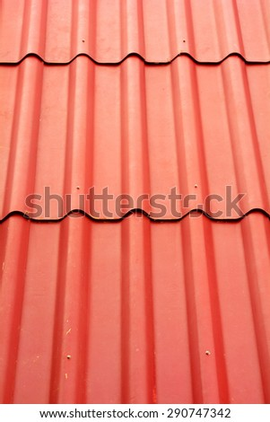 Close up of red roof texture background - stock photo